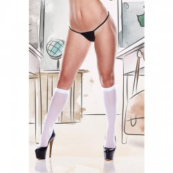 WHITE SHEER KNEE HI PANTY BLANCO