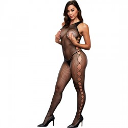 OPEN SIDE SLEEVELESS BODYSTOCKING