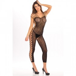 ANIMAL CROTCHLESS BODYSTOCKING DE MALLA NEGRO
