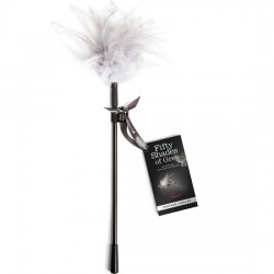 TEASE FEATHER PLUMERO BDSM NEGRO BLANCO