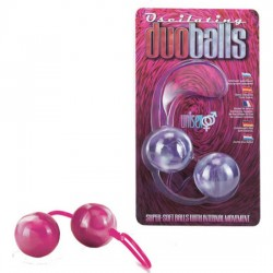 BOLAS DOBLES MARBILIZED ROSA