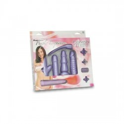 KIT TEMPTATION ANILLO FUNDA Y VIBRADOR MORADO