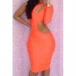VESTIDO AJUSTADO CUT OUT NARANJA