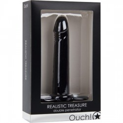 OUCH REALISTIC TREASURE DOBLE PENETRACION NEGRO