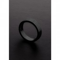 GOLDEN BLACK RIBBED C RING 10X45MM