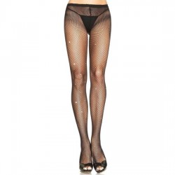 LEG AVENUE PANTIES DE RED NEGROS CON STRASS